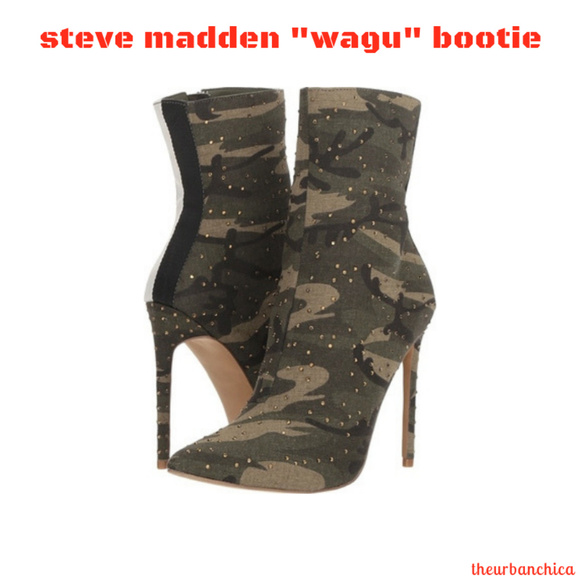 Steve Madden Wagu Studded Camouflage